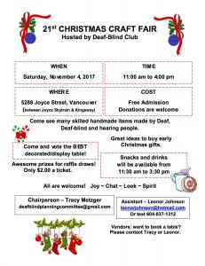 November Christmas Craft Fair